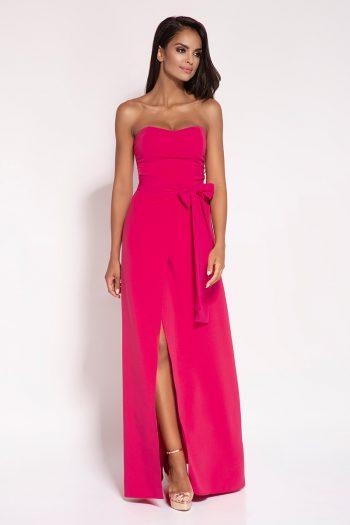Rochie lungă Dursi roz