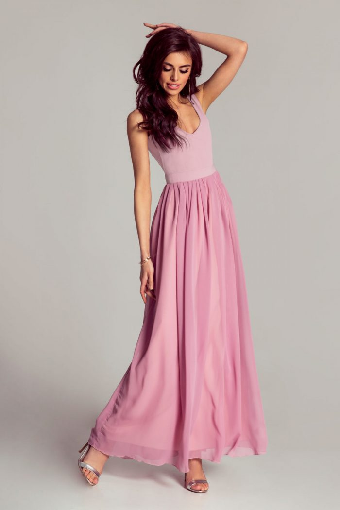 Rochie lungă IVON roz