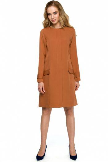 Rochie de zi Style portocaliu