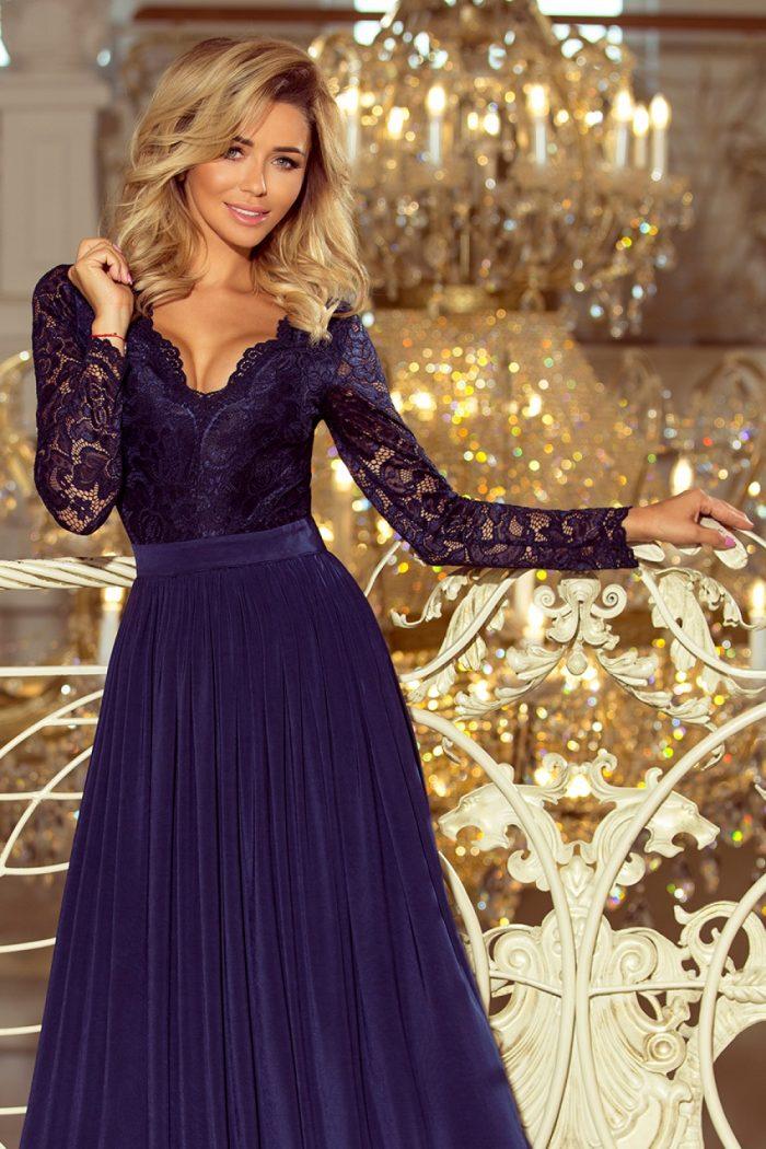 Rochie lungă Numoco Bleumarin