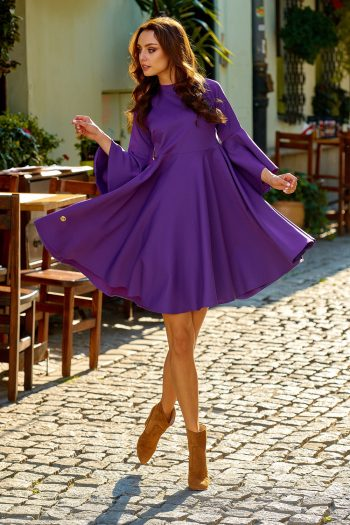 Rochie elegantă Lemoniade violet