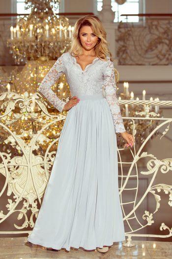 Rochie lungă Numoco gri