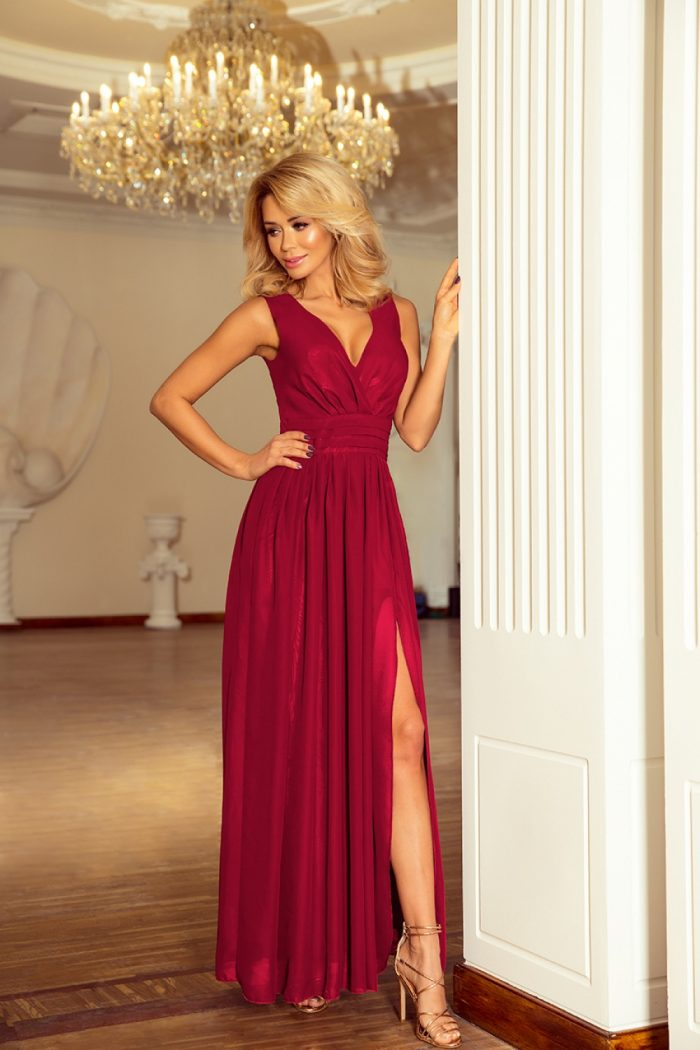 Rochie lungă Numoco violet