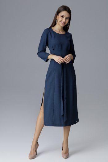 Rochie elegantă Figl Bleumarin