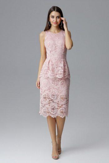Rochie de seară Figl roz