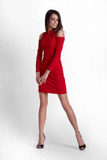 Rochie scurtă IVON roşu