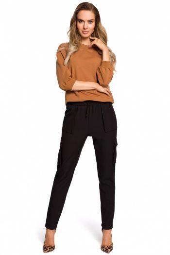 Pantaloni de damă Moe negru