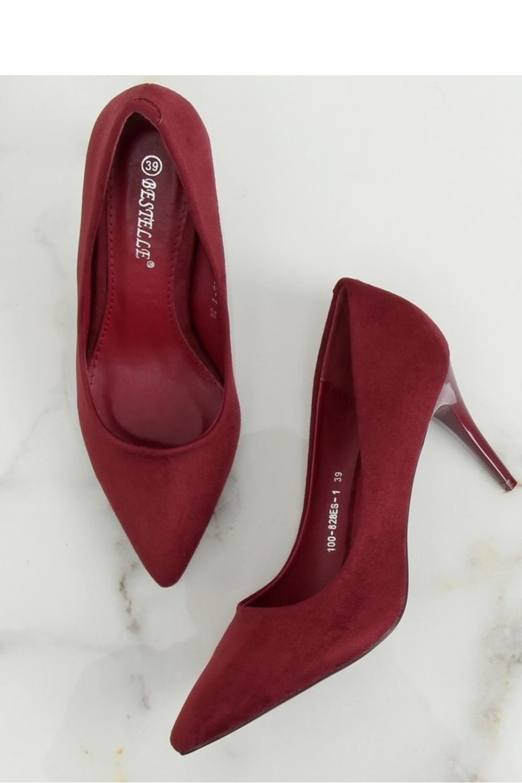 Pantofi cu toc subţire (stiletto) culoarea roşu – 127907