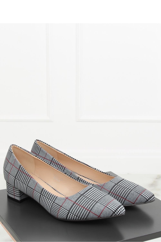 Pantofi dcu toc gros culoarea negru – 128088