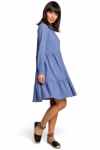~Sukienka dzienna BE albastru