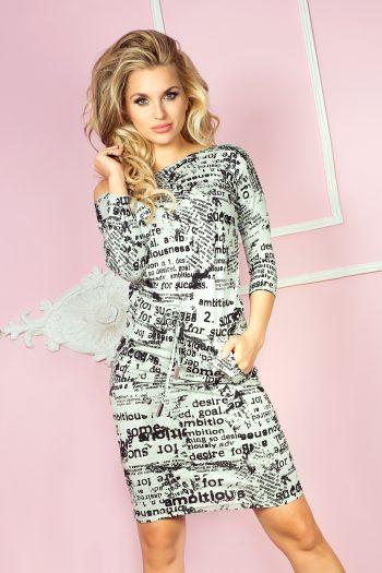 Rochie de zi Numoco gri
