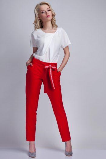 Pantaloni de damă Lanti roşu