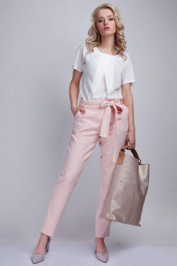 Pantaloni de damă Lanti roz