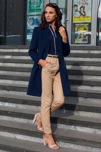 Palton Mattire Bleumarin