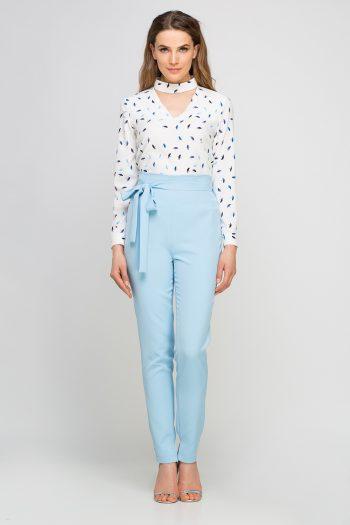 Pantaloni de damă Lanti albastru