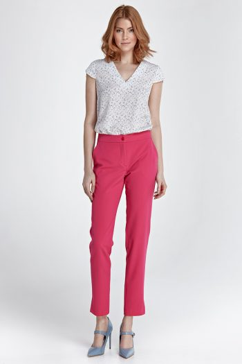 Pantaloni de damă Nife roz