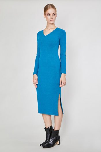 Rochie de zi Click Fashion albastru