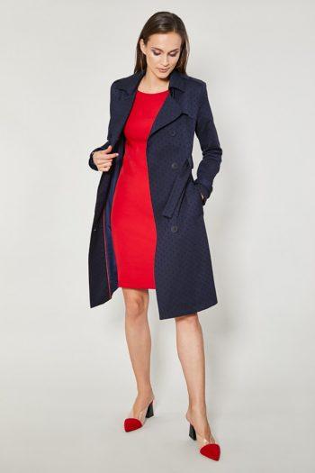 ~Płaszcz Click Fashion Bleumarin