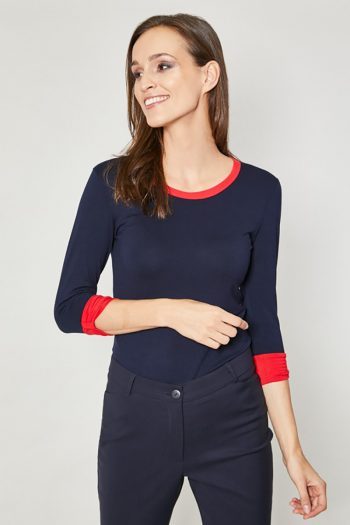 ~Bluzka Click Fashion Bleumarin