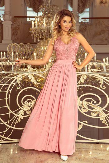Rochie lungă Numoco roz