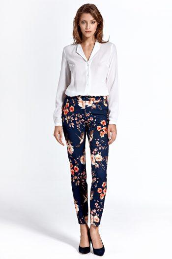 Pantaloni lungi Colett Bleumarin