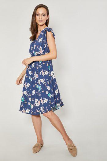 ~Sukienka dzienna Click Fashion albastru