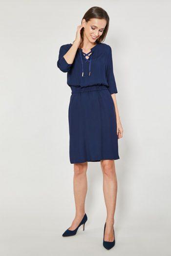 ~Sukienka dzienna Click Fashion Bleumarin