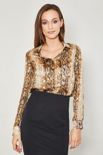 ~Koszula z długim rękawem Click Fashion bej