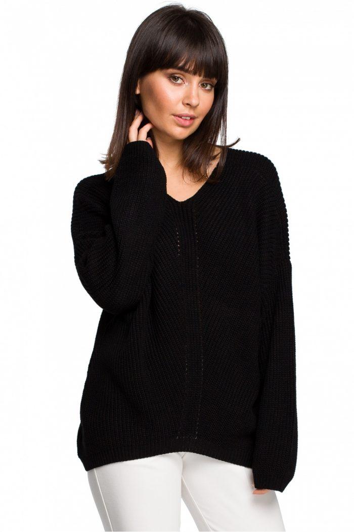 Pulover BE Knit negru