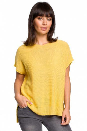 Pulover cu mânecă scurtă BE Knit galben
