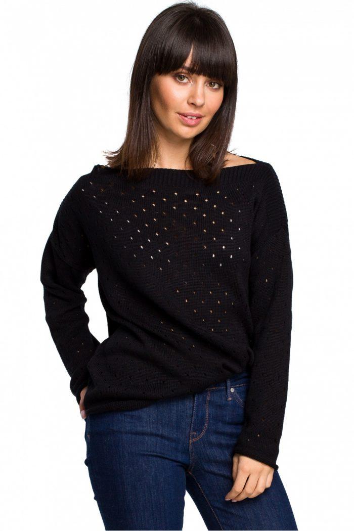 ~Sweter BE Knit negru