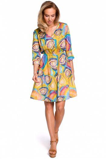 Rochie de zi Moe multicolor
