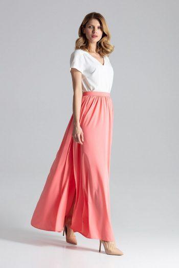 Fustă lungă Figl roz