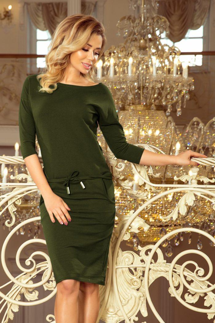 Rochie de zi Numoco verde