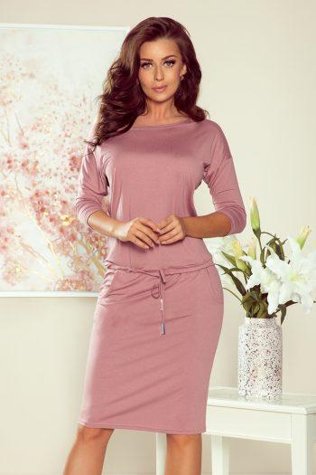 Rochie de zi Numoco roz