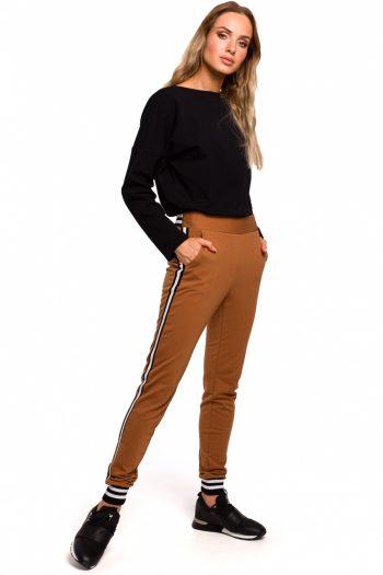 Pantaloni de damă Moe maro