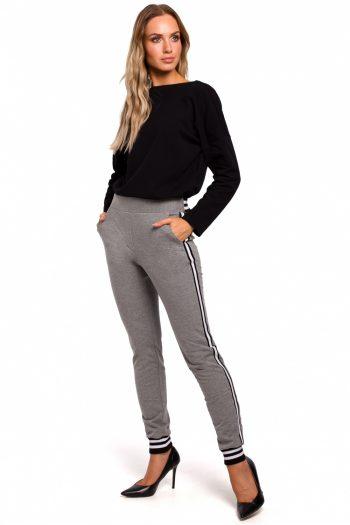 Pantaloni de damă Moe gri