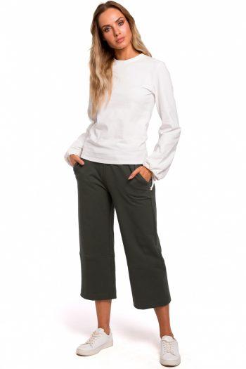 Pantaloni de damă Moe verde