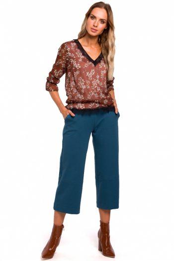 Pantaloni de damă Moe albastru