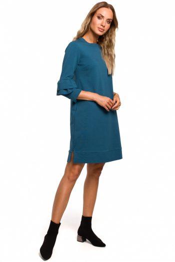 Rochie de zi Moe albastru