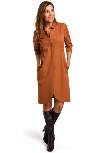 Rochie de zi Style maro