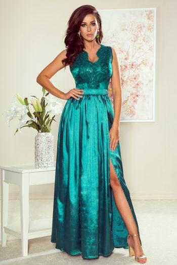 Rochie lungă Numoco verde