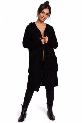 Cardigan BE Knit negru