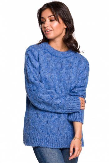 Pulover BE Knit albastru