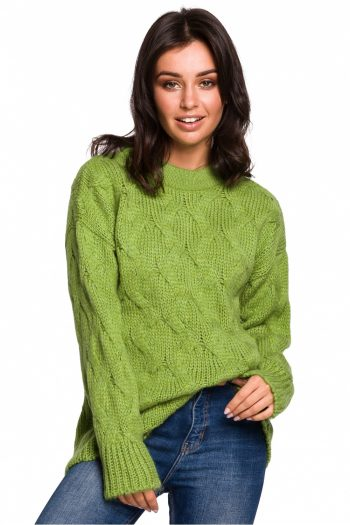 Pulover BE Knit verde