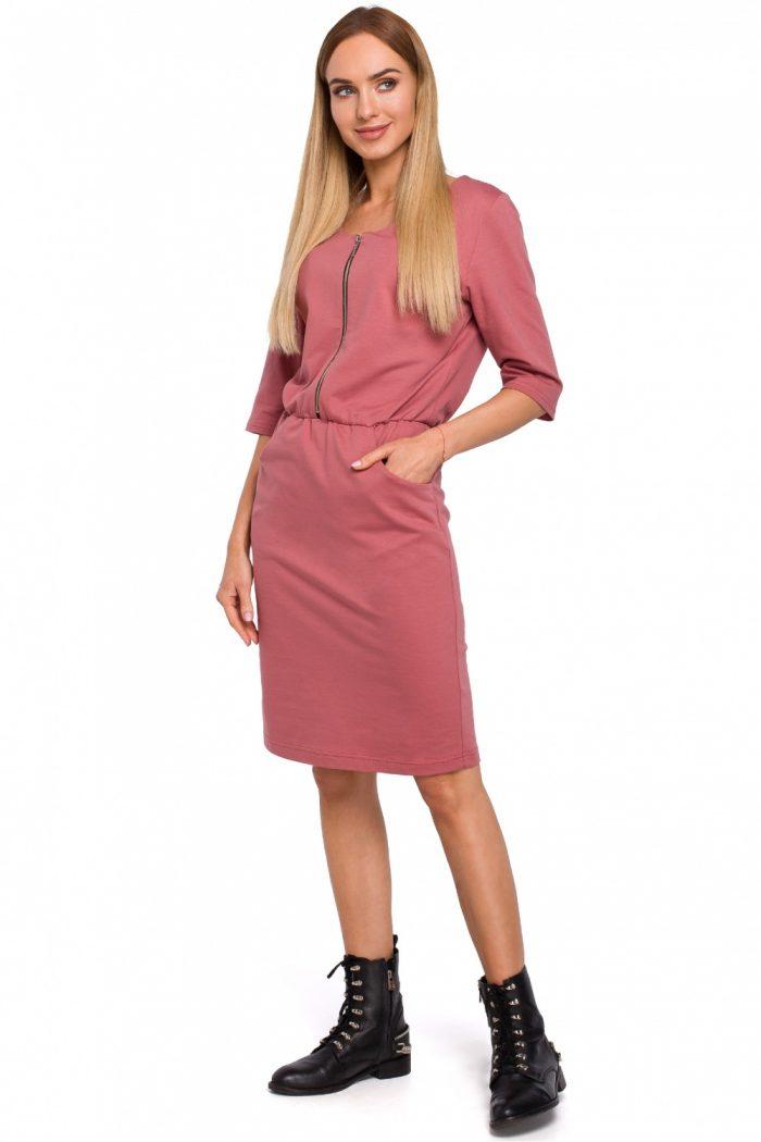 Rochie de zi Moe roz