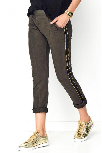 Pantaloni de damă Makadamia verde