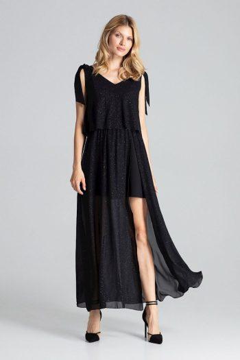 Rochie elegantă Figl negru