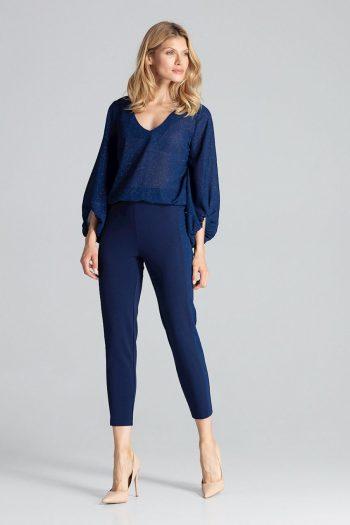 Pantaloni de damă Figl Bleumarin