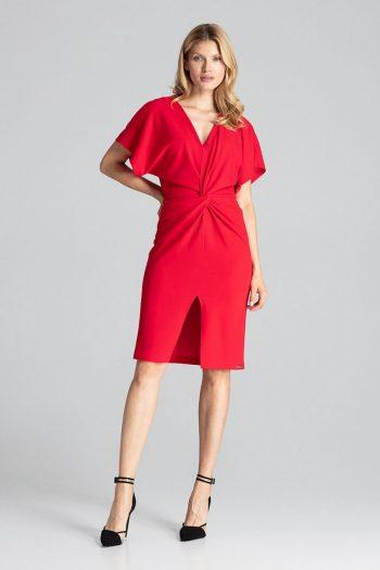Rochie de zi Figl roşu